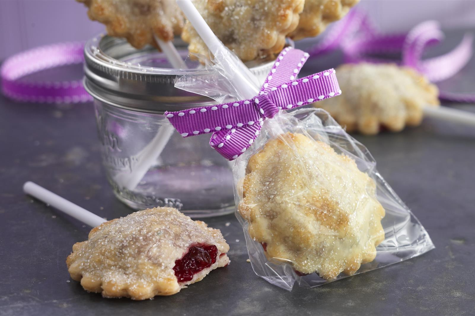 Rustic Cherry Berry Pie Pops