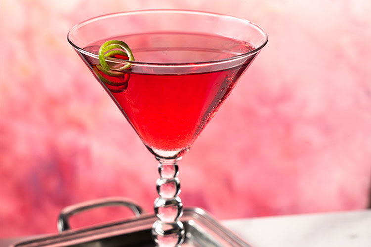 Cranberry Lime Cosmopolitan