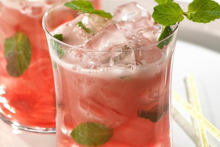 Cranberry Lime Mint Spritzer