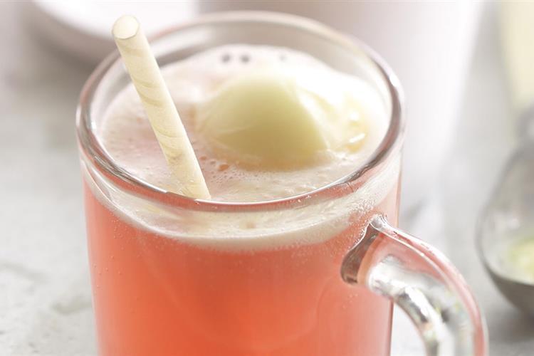 Diet Cran-Lemonade Float