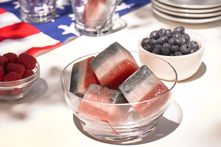 Independence Ice Cubes
