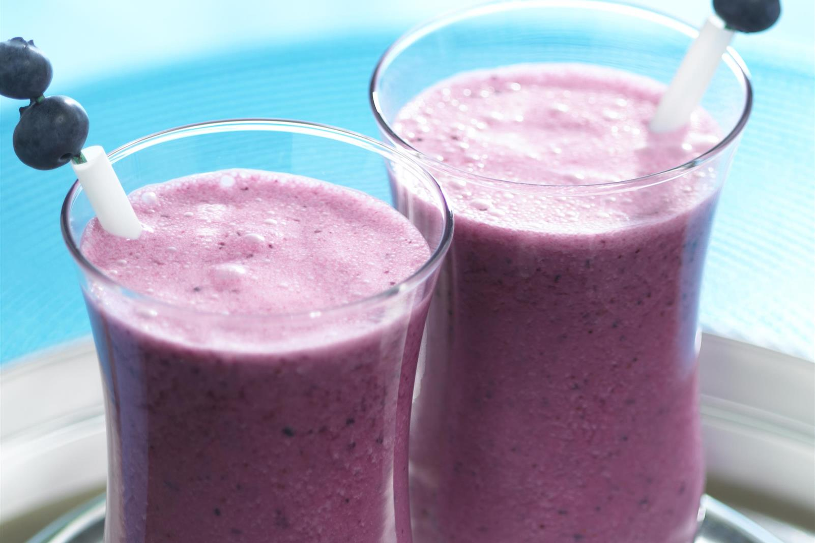 Organic Blueberry Smoothies