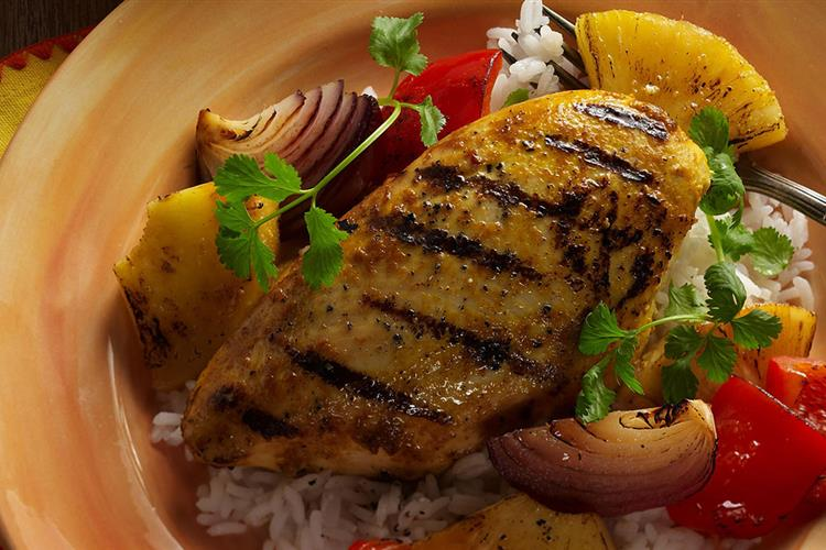 Chicken with Cranberry Pineapple Marinade