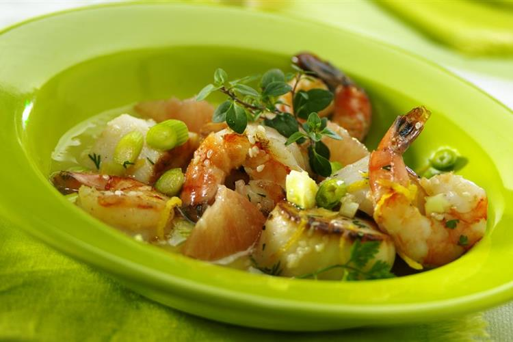 Seafood Salad with Grapefruit Vinaigrette