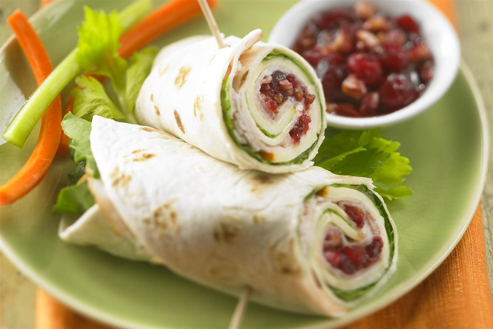 Turkey Cranberry Roll-ups
