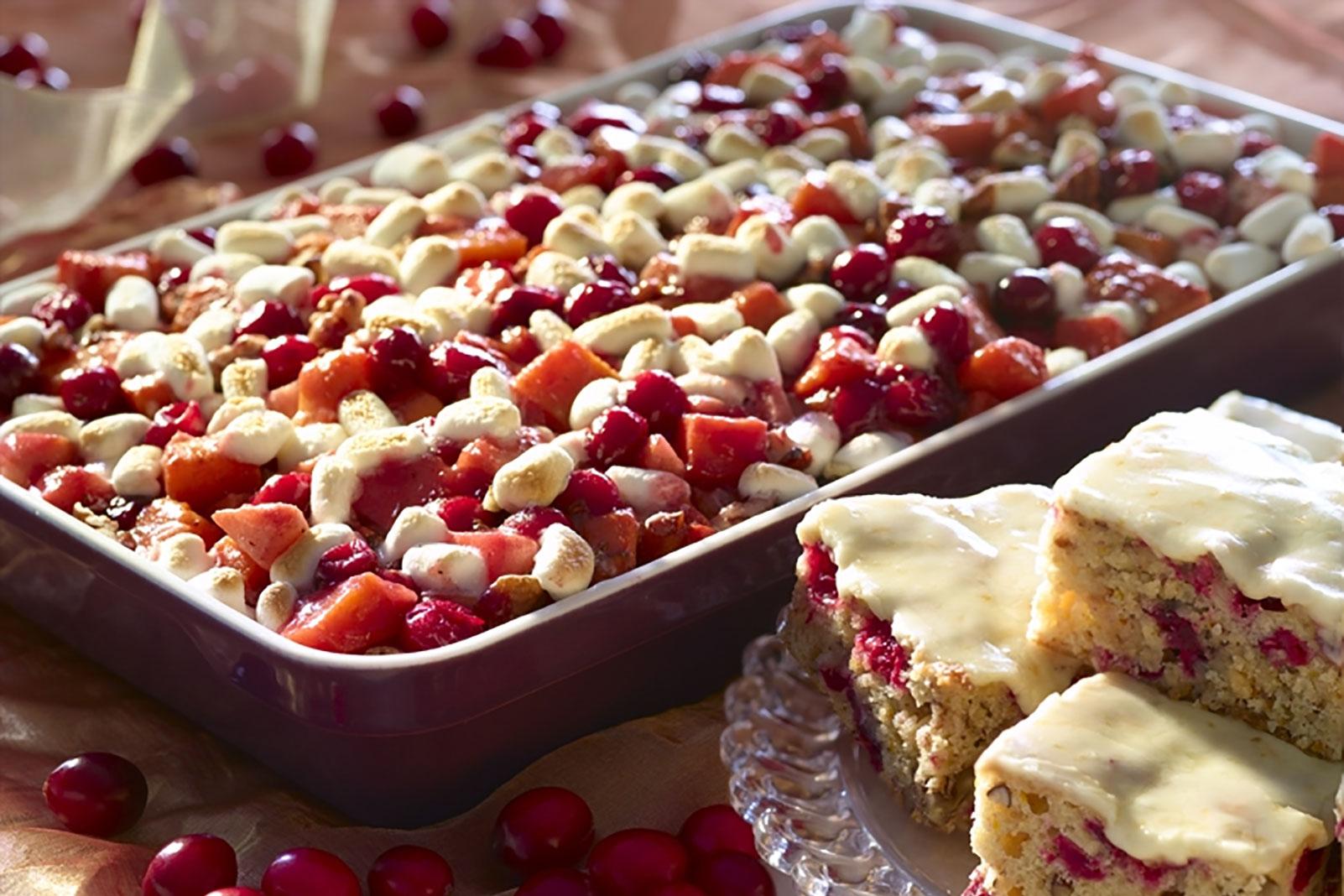 Cranberry, Apple, Sweet Potato Bake