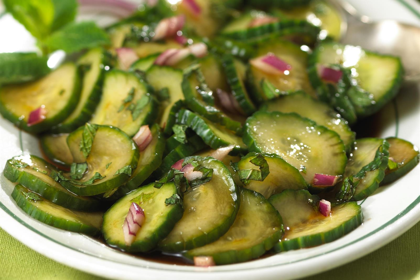 Cranberry Mint Marinated Cucumbers