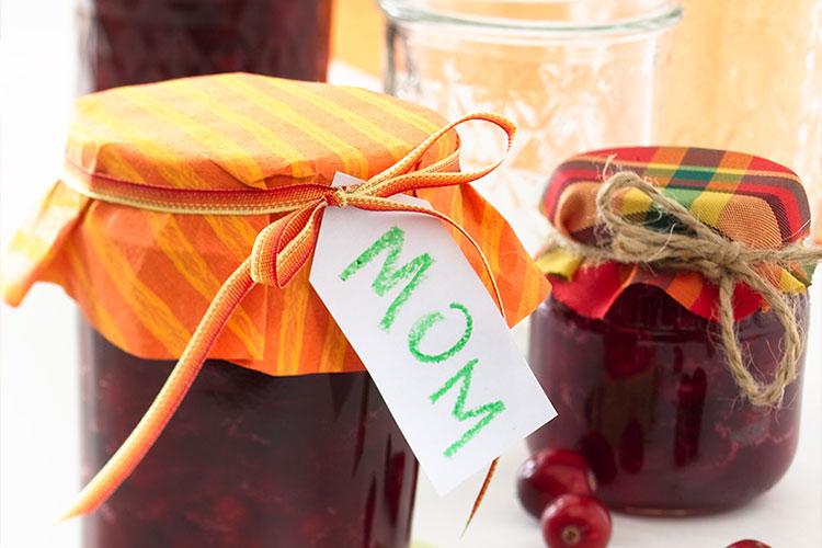 Cranberry Orange Sauce Gift Jars