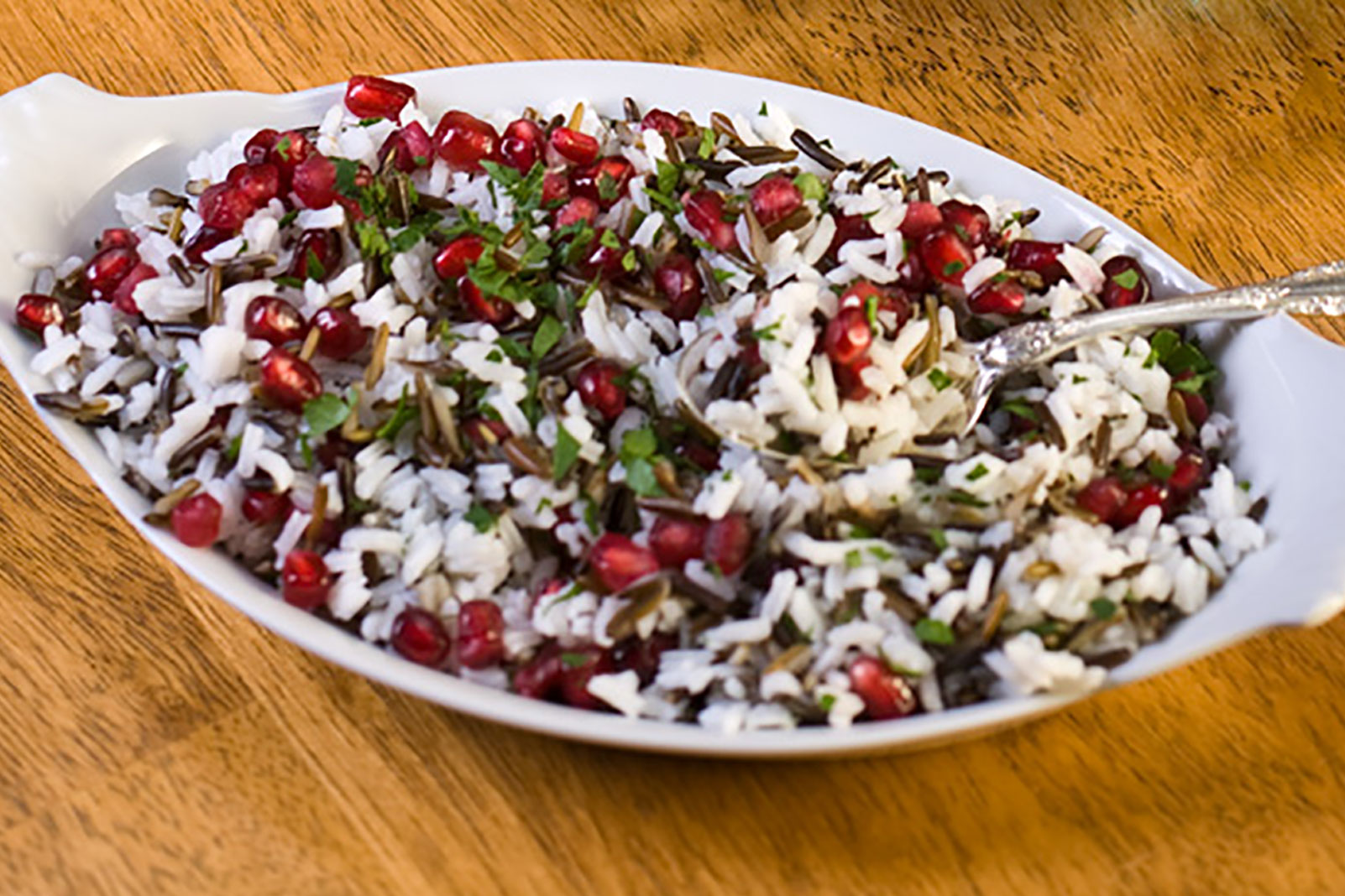 Pomegranate Wild Rice Pilaf