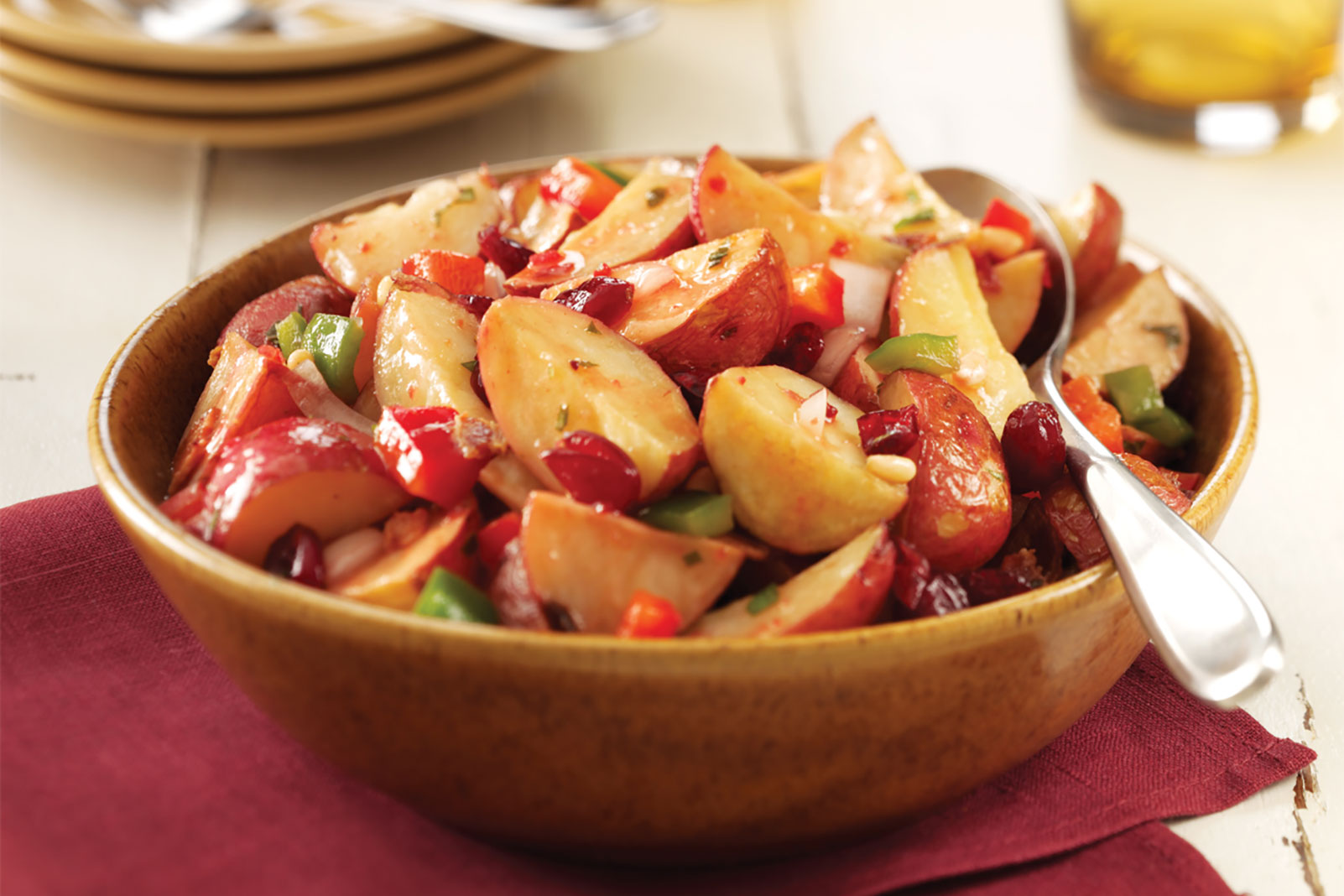 Roasted Cranberry Potato Salad