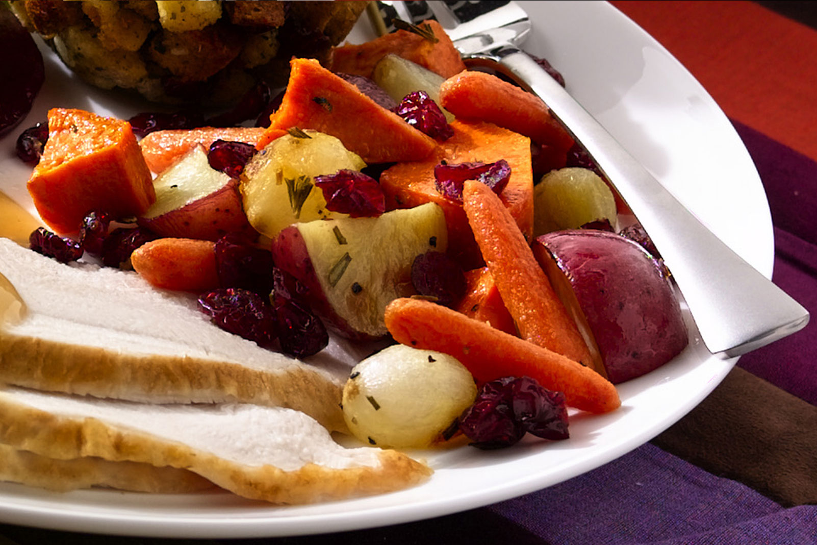 Roasted Winter Vegetables with Craisins® Dried Cranberries
