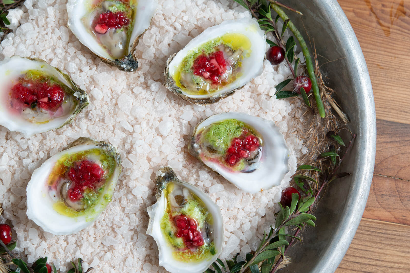 Wellfleet Oysters with Cranberry Mignonette