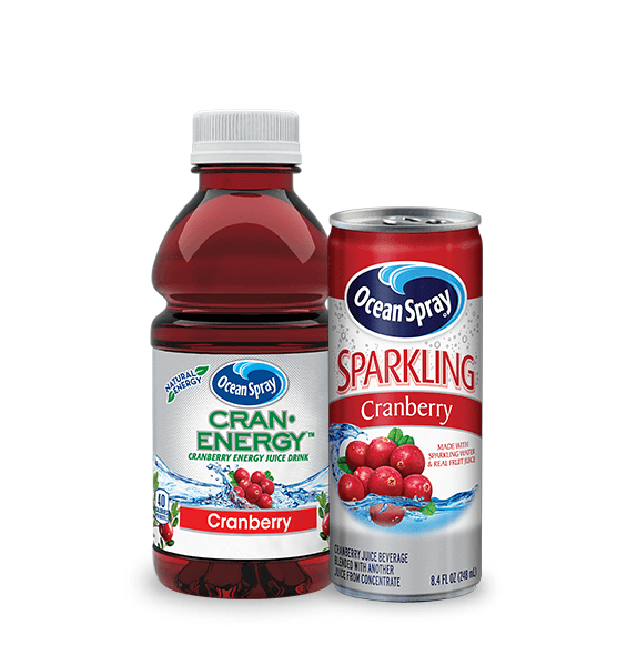 pack-shots of cran-energy, mocktails and pact