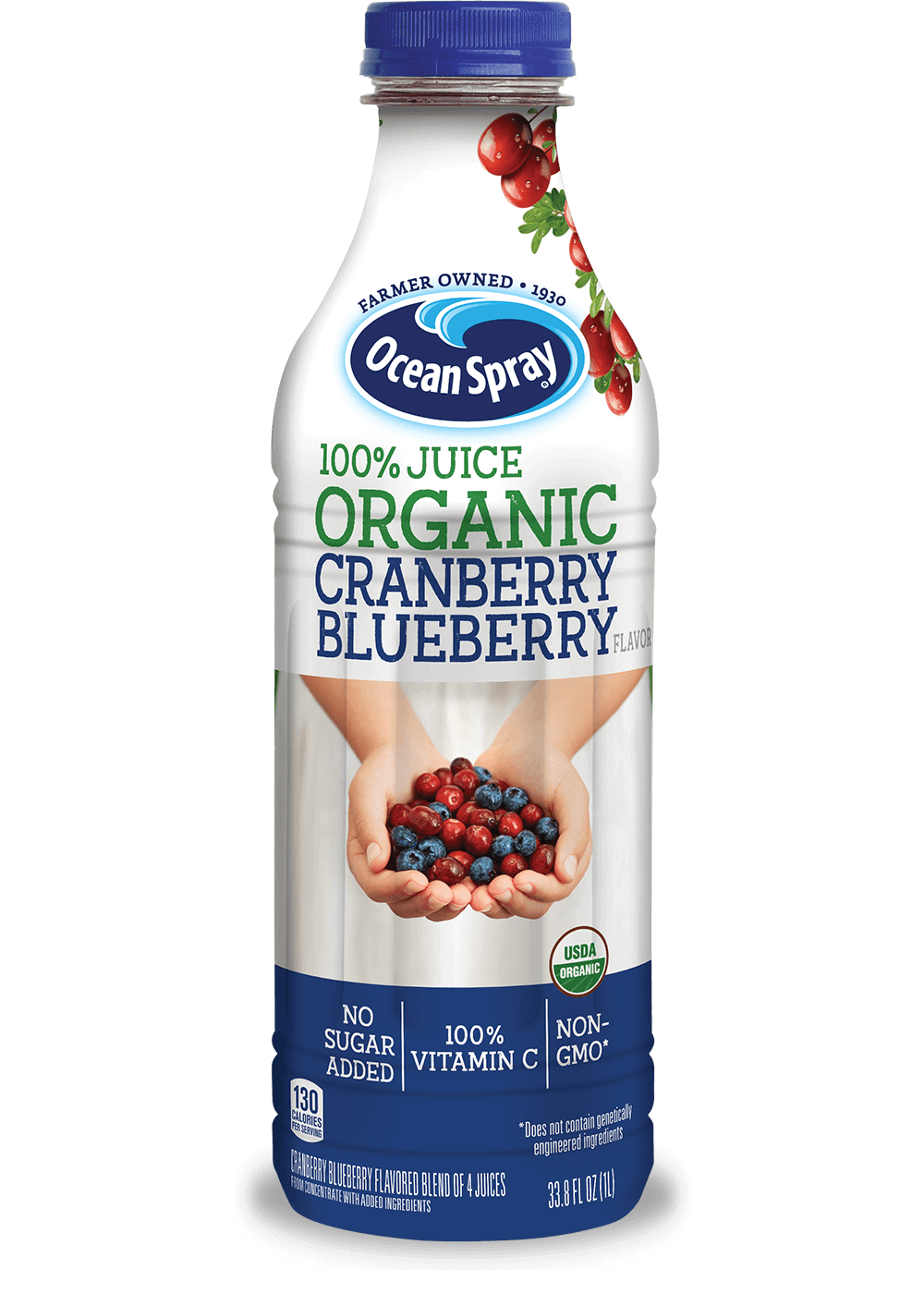100% Juice Organic Cranberry Blueberry