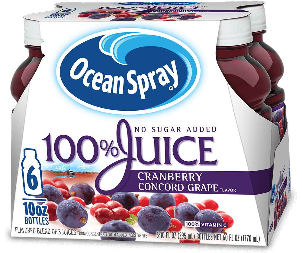 100% Juice Cranberry Concord Grape