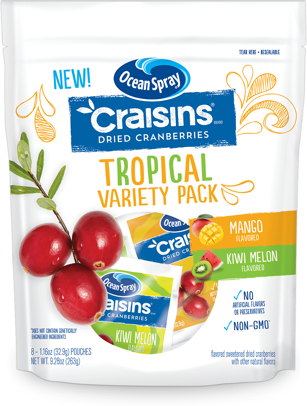Craisins® Dried Cranberries Tropical Variety Pack