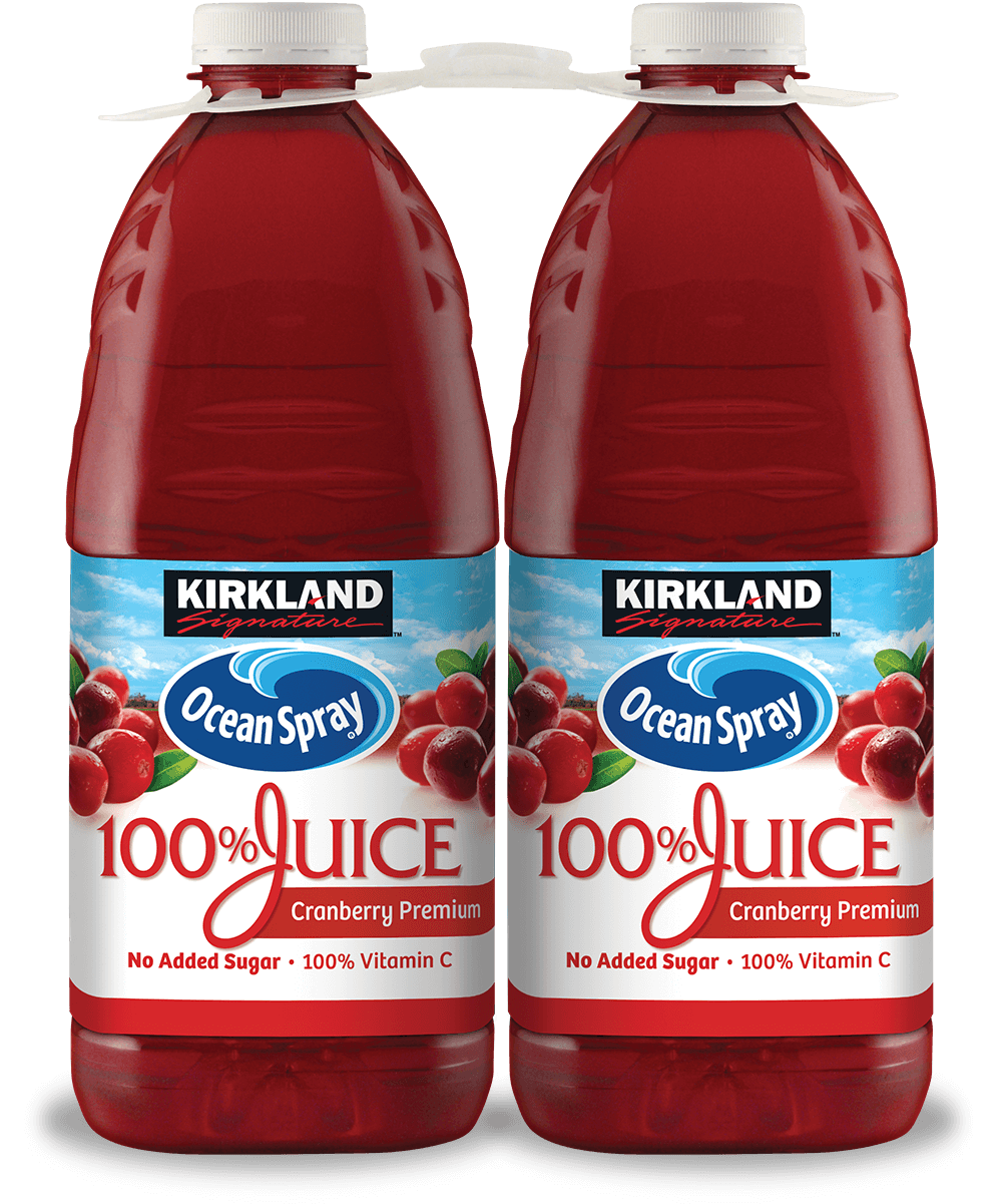 Kirkland Signature Ocean Spray Cranberry Premium 100% Juice