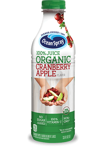 100% Juice Organic Cranberry Apple