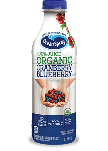 100% Juice Organic Cranberry Blueberry