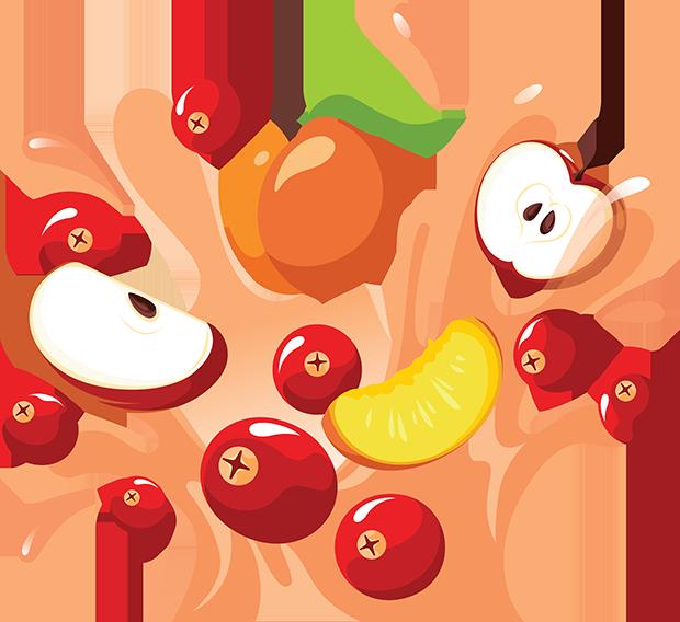 Cranberry Apple Peach