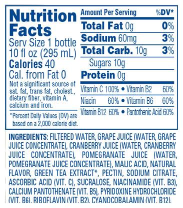 Cran•Energy™ Cranberry Pomegranate Energy Juice Drink