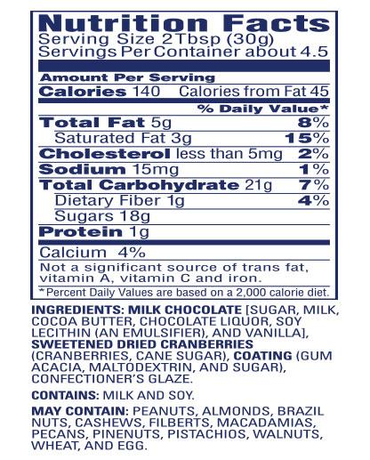 Milk Chocolate Covered Craisins® Dried Cranberries