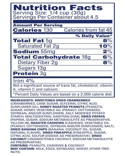 Craisins® Dried Cranberries Trail Mix Cranberry, Fruit & Nuts