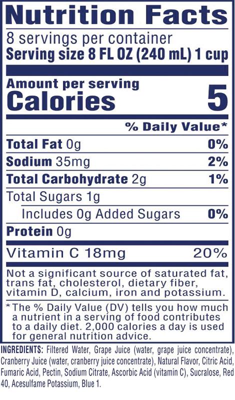 Diet Cran•Grape® Cranberry Grape Juice Drink