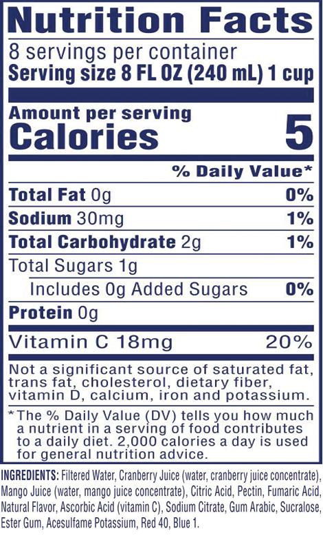 Diet Cran•Mango™ Cranberry Mango Juice Drink