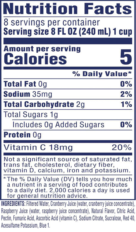 Diet Cran•Raspberry® Cranberry Raspberry Juice Drink