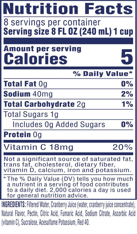 Diet Cranberry Juice Drink