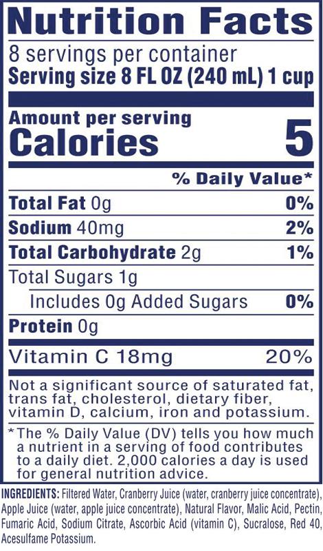 Diet Cran•Apple® Cranberry Apple Juice Drink