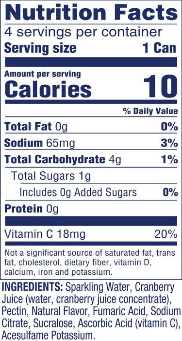 Diet Sparkling Cranberry
